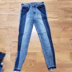 American Eagle Two Toned Jeggings